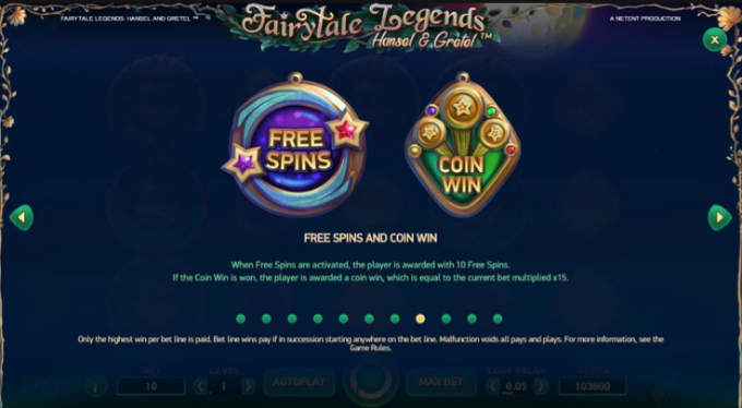 Fairytale Legends: Hansel and Gretel slot free spins