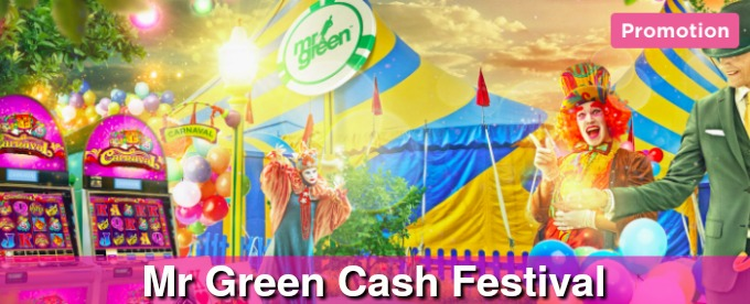 Win up to €5,000 with Mr Green cash festival