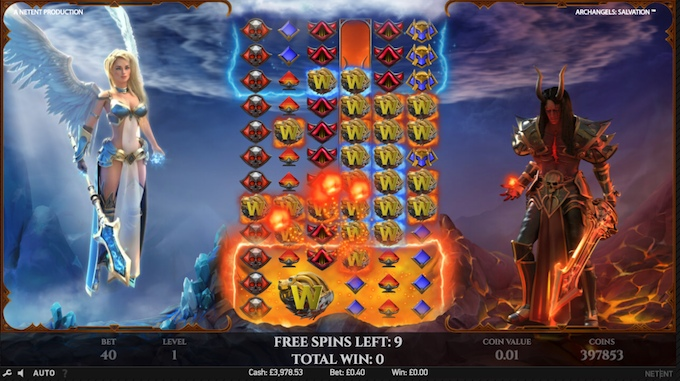 Archangels Salvation slot free spins feature