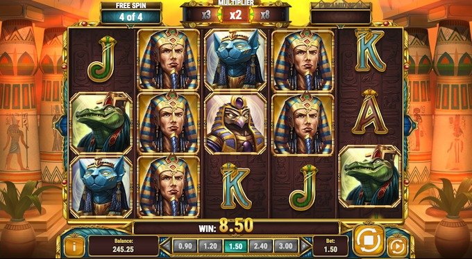 Legacy of Egypt slot free spins feature