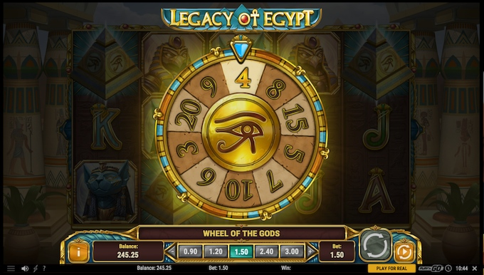 Legacy of Egypt Wheel of Gods feature