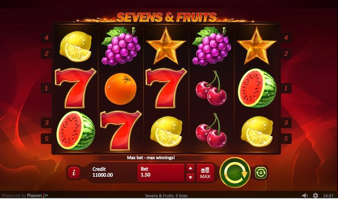 Sevens&Fruits slot by Playson