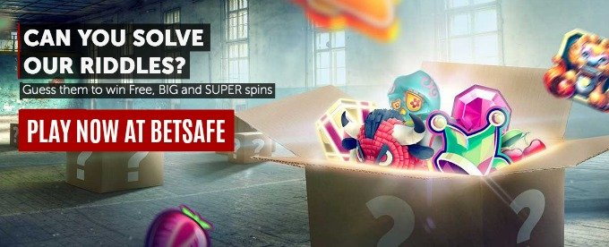 Win Big, Free and Super spins wth Betsafe riddles