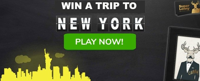 Win a trip to New York at SupeLenny Casino