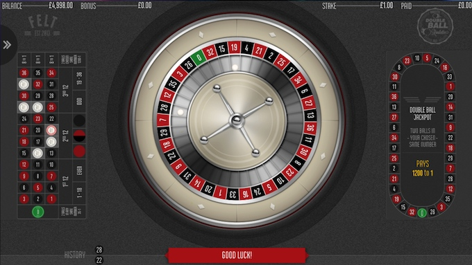 Double Ball Roulette at Mr Green casino