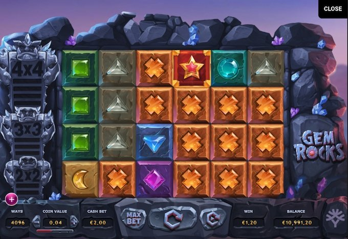 Play Gem Rocks slot here!