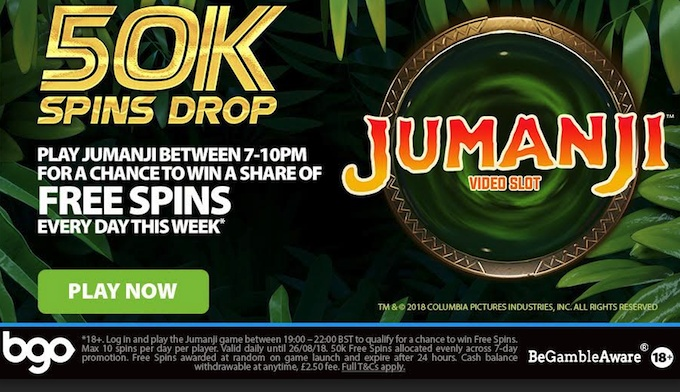 Click to play Jumanji slot now
