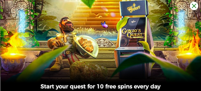 free spins for existing players - mr green