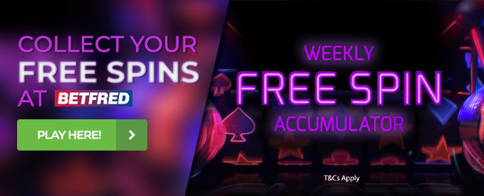 Free spins for existing players at Betfred