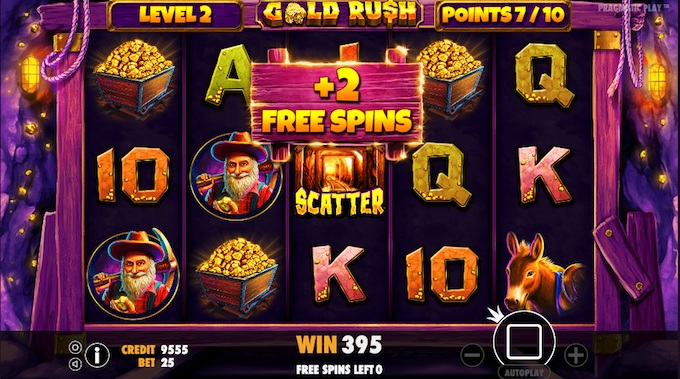 Gold rush additional spins