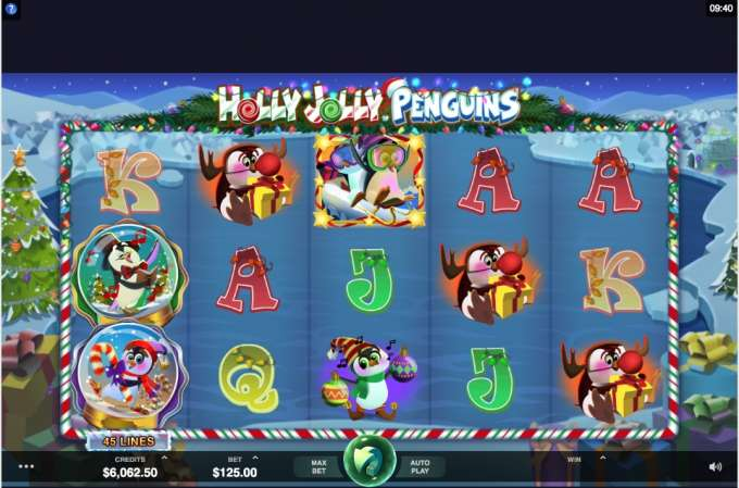 Play Holly Jolly Penguins today