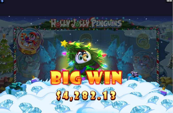 Holly Jolly Penguins big win!