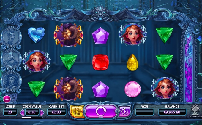 Play Beauty and the Beast slot at Dunder Casino