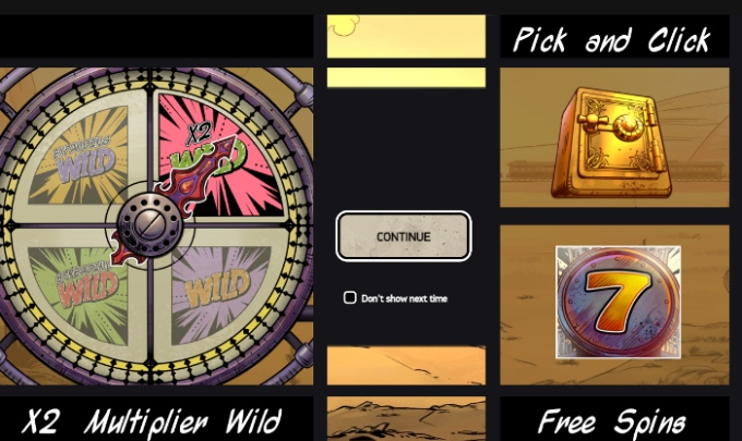 Play Wild Wild West slot at Dunder casino