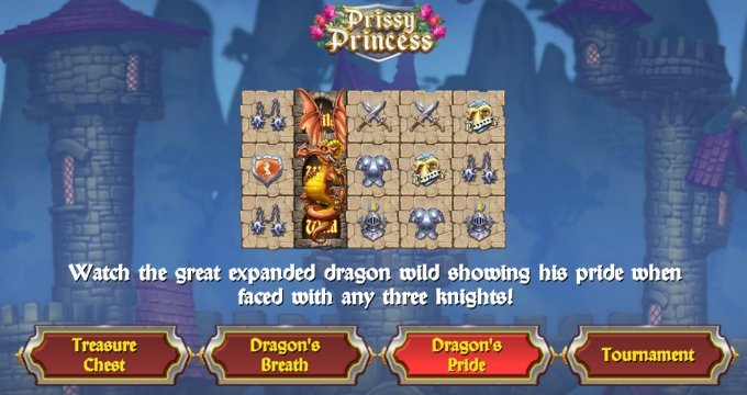 Play Prissy Princess slot at Dunder Casino