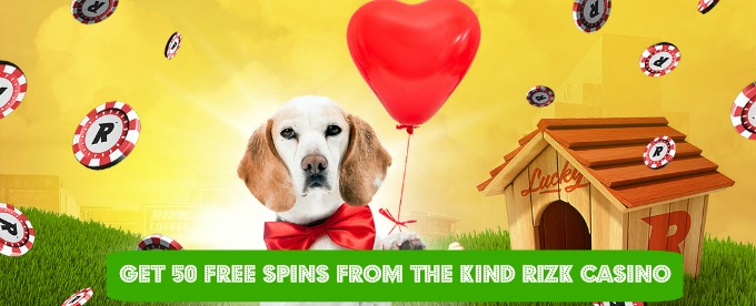Get 50 free spins at Rizk Casino this February