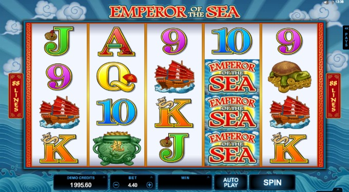 Play Emperor of the Sea slot at LeoVegas Casino