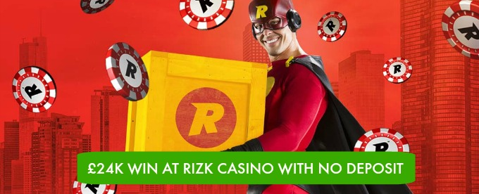 Lucky player wins £24K Win at Rizk Casino with no deposit