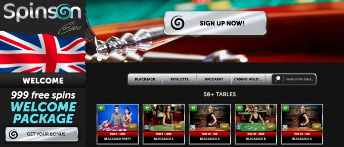 Try brand new Live Casino at Spinson