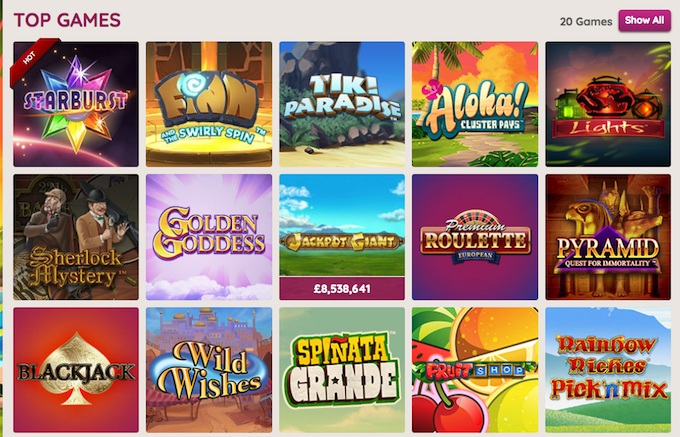 Power Spins game collection