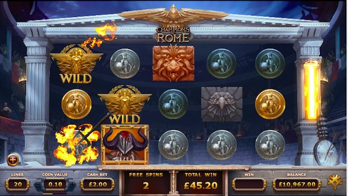 Champions of Rome slot deathmatch free spins