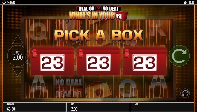 Deal or No Deal Pick the Box bonus