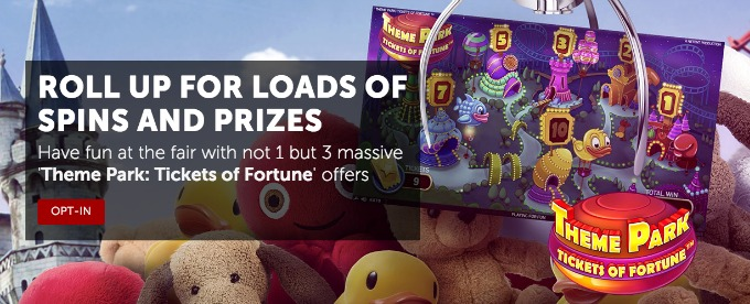 Massive Giveaway from Betsafe on Theme Park slot