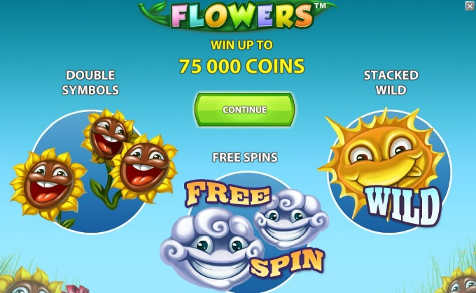 Play Flowers slot at Dunder Casino