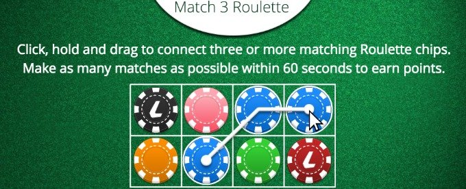 Play Match 3 roulette chips game at Ladbrokes casino