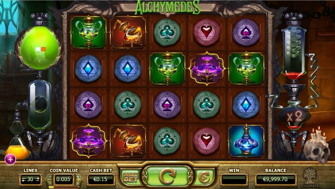 Play Alchymedes slot at Mr Green Casino