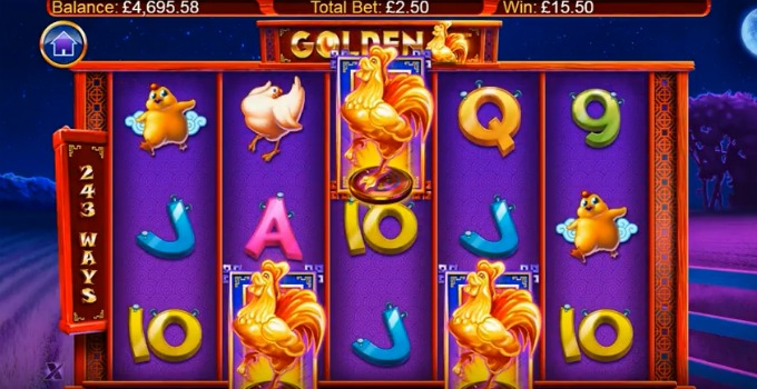 Play Golden slot at Rizk casino