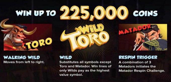 Play Wild Toro slot at Rizk Casino