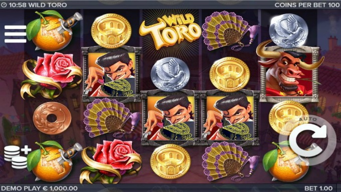 Play Wild Toro slot at Dunder casino