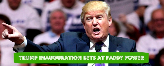 Bet on Trump Inauguration Ceremony at Paddy Power Casino