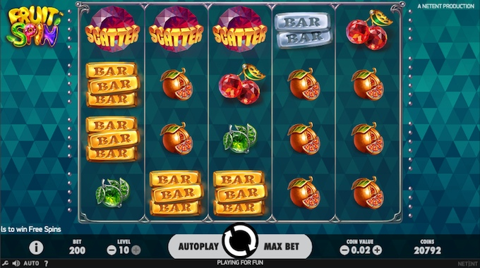 Fruit Spin slot reels