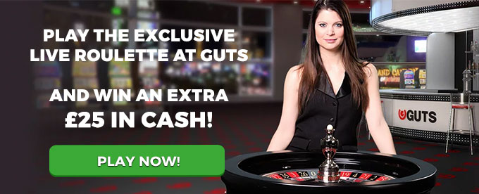 Play live Roulette with Guts now!