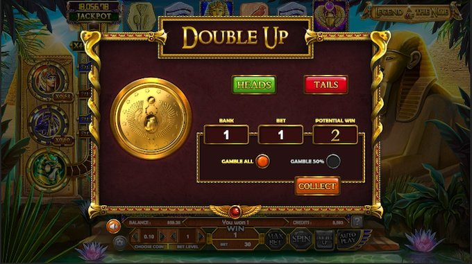 Legend of the Nile slot double up feature