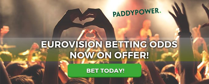 Bet on the Eurovision today with Paddy Power casino