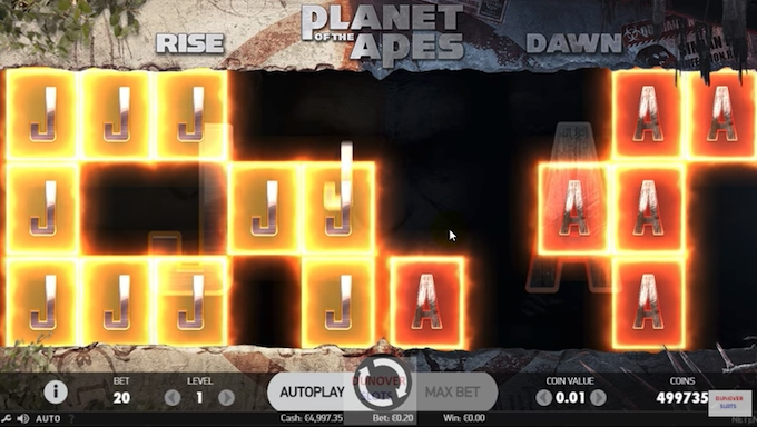 Planet of the Apes slot dual feature