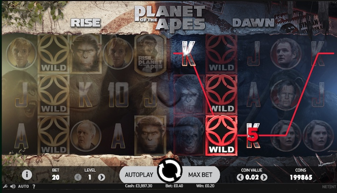 Planet of the Apes slot_reels
