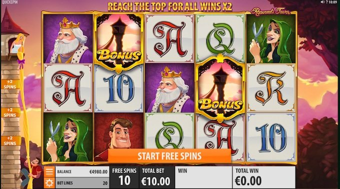 Rapunzel's Tower slot free spins