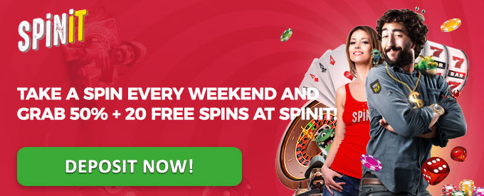 Deposit now with Spinit!