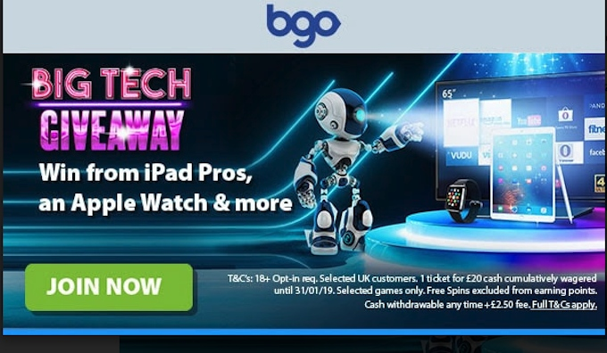 Click to participate in the Big Tech Giveaway at bgo casino