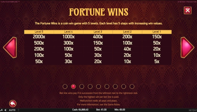 Turn Your Fortune slot fortune wins