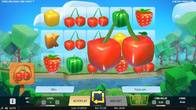 Strolling Staxx: Cubic Fruits colossal symbols