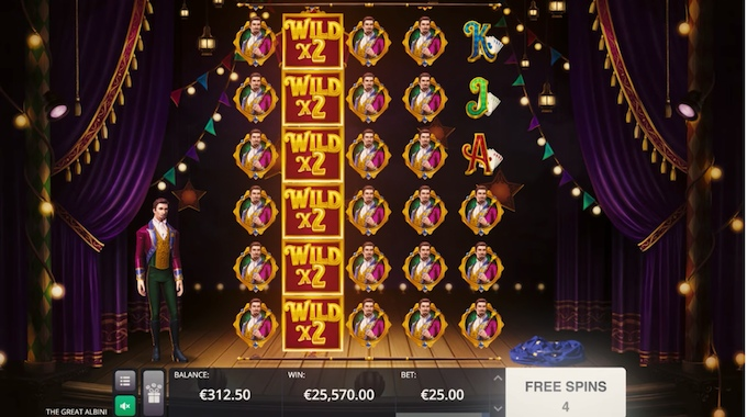 The Great Albini slot free spins