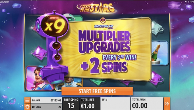 Ticket to the Stars multipliers