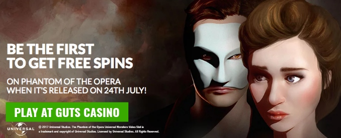 Get free spins for Phantom of the Opera slot