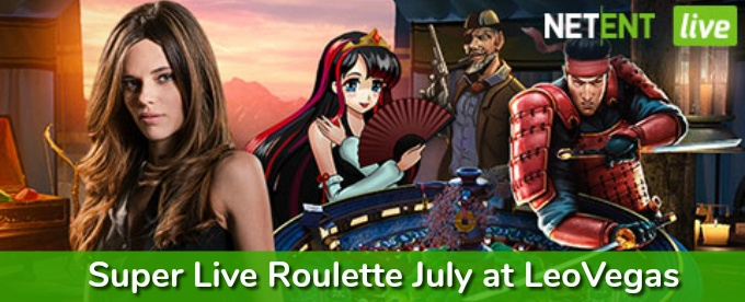 Win cash and free spins with LeoVegas Super Live Roulette July