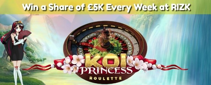 Win up to £1k with Rizk Koi Princess roulette